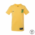 Youth Nike Brazil Neymar Hero Tee - Varsity Maize
