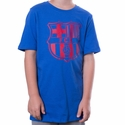 Youth Nike FC Barcelona Crest 2 Tee - Game Royal