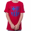 Youth Nike FC Barcelona Crest 2 Tee - Gym Red