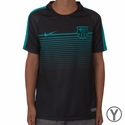Youth Nike FC Barcelona Squad SS CL Training Top - Black