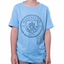 Youth Nike Manchester City Crest Tee - Field Blue