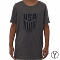 Youth Nike USA Crest Tee - Charcoal Heather