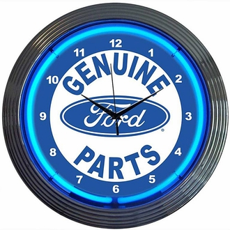 Ford Parts Neon Clock
