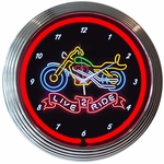 Motorcycle Neon Clock