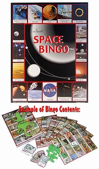 Space Bingo Children's Game