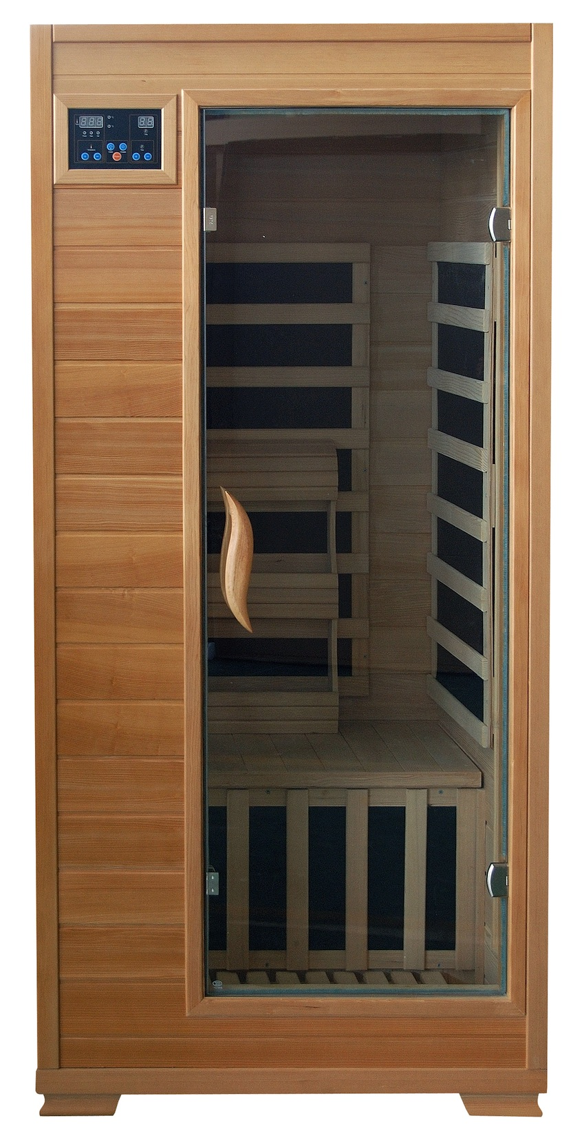 1 person far infrared sauna with carbon heaters. Black Bedroom Furniture Sets. Home Design Ideas
