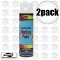 Aervoe 255 2pk 17oz Fluorescent White Construction Writing Marking Paint