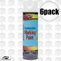 Aervoe 255 6pk 17oz Fluorescent White Construction Writing Marking Paint
