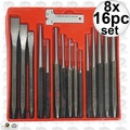 Astro Pneumatic 1600 8x 16-Piece Punch and Chisel Set