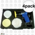"Astro Pneumatic 3055 3"" Mini Air Polishing Kit with Pads + Case 4x"