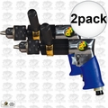 "Astro Pneumatic 527C 2pk 1/2"" Heavy Duty Reversible Pneumatic Drill"