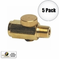 "Astro Pneumatic 5706 5pk Air Valve Pressure ""Cheater"" Valve Brass 5 Pack"