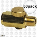 "Astro Pneumatic 5706 50pk Air Valve Pressure ""Cheater"" Valve Brass"
