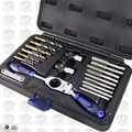 Astro Pneumatic 7580 Automotive Drill + Tap Set - SAE