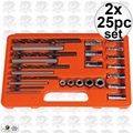 Astro Pneumatic 9447 2x 20pc Set EZ Out Screw Extractor Drill & Guide Set
