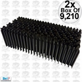 "Bea BA-W9 2x Box of 9,210 3/8"" Corrugated Industrial Fasteners"