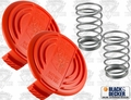 Black & Decker 385022-03 2 each Spool Cover + Spool Spring Kit