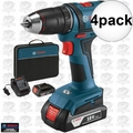 "Bosch DDB181-02-RT 18V Li-Ion 1/2"" Compact Tough 2-Batt Drill/Drive 4x"
