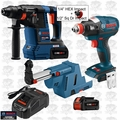 "Bosch GBH18V-26K24 18V 1"" SDS-Plus Hammer w/ Dust Collection+Impact"