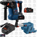 "Bosch GBH18V-26K24 18V 1"" SDS-Plus Rot Hammer Kit w/Batts and Dust Ext"