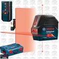 Bosch GCL2-160+LR6 Self-Leveling Class II 635nM Laser + LR6 Receiver