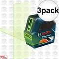 Bosch GLL 100 G 3x Self-Leveling GREEN-BEAM Cross-Line Laser