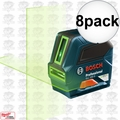 Bosch GLL 100 G 8x Self-Leveling GREEN-BEAM Cross-Line Laser