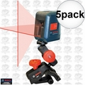Bosch GLL2 5x Self-Leveling Cross Line Laser w/Flexible Mount