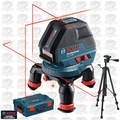 Bosch GLL3-50 Three Line Laser with Layout Beam w/ L-Boxx + Tripod Kit