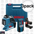 Bosch GLL3-80+LR2 3x 3 Plane Leveling and Alignment Laser w/ Receiver