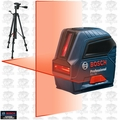 Bosch GLL55-X1 1.5v Self-Leveling Cross-Line Laser Kit w/ BT150 Tripod