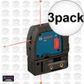 Bosch GPL3 3x Reconditioned 3-Point Self-Leveling Alignment Laser