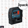 Bosch GPL5-RT 3x 5-Point Class II 1mW Self-Leveling Alignment Laser