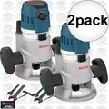 "Bosch MRF23EVS 2x 2.3HP Fixed Base Router 1/2"" & 1/4"" Collets Inc."
