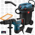 "Bosch RH540M-RT 1-9/16"" SDS MAX Rotary Hammer w/HEPA Dust Collector"