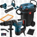 "Bosch RH540M-RT 1-9/16"" SDS MAX Rotary Hammer w/HEPA Vac+Dust Attchmnt"