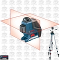 Bosch Tools GLL2-80 Dual Plane Leveling + Alignment Laser w/ Alum Tripod