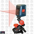 Bosch Tools GLL2 Self-Leveling Cross Line Laser w/Flexible Mount OB