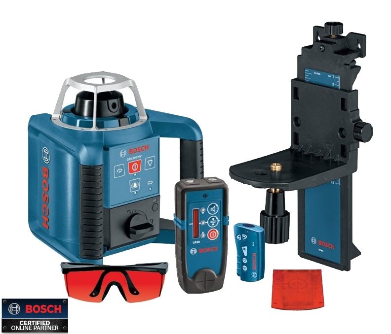 bosch tools grl300hvd self leveling rotary laser layout. Black Bedroom Furniture Sets. Home Design Ideas