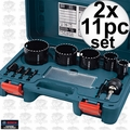 Bosch Tools HDG11 2x 11pc Diamond Hole Saw Kit