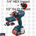 "Bosch Tools IDH182-01L Brushless Socket Ready Impact w/ 1/4"" Hx+1/2"" Sq 4Ah O-B"