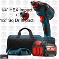 "Bosch Tools IDH182WC-102 1/2"" Socket Ready 1/4"" Hex Impact Wireless Kit"