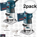 Bosch Tools PR20EVSK-RT 2pk 1HP Colt VS Electronic Palm Router Kit