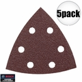 Bosch Tools SDTR040 5pk 40 Grit Triangle Hook & Loop Sanding Sheets for Wood