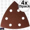 Bosch Tools SDTR042 4x 25pk 40 Grit Triangle Hook + Loop Sanding Sheets