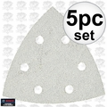 Bosch Tools SDTW040 5pc 40 Gr Triangle Hook + Loop Sanding Sheets for Paint
