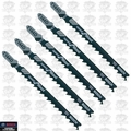 "Bosch Tools T144D 5pk 4"" 5-6TPI Speed for Wood T-Shank Jigsaw Blades"