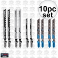 Bosch Tools T5002 10pc T-Shank Jigsaw Blade Assortment Set