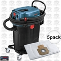 Bosch Tools VAC140A 14 Gallon Vacuum, Auto Filter Clean + 5x 14gal Dust Bags