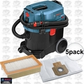 Bosch VAC090AH 9 Gal Dust Extractor + HEPA Filter + 5pk Dust Bag
